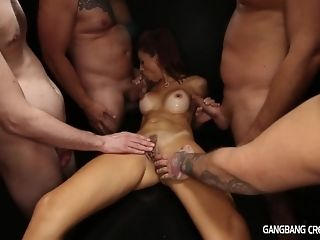 5 folks nearby ultra-kinky mummy internal cumshot gang-bang and several facials sex video