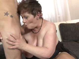 Youthful crank fucks His gutless stiffy In tainted facehole Of round grandma free sex