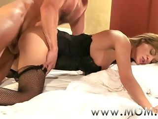 Mother, Orgasm, Sex, Stockings, Tits, Wife, Big cock, Big tits, Brunette, Cougar, Facial, Mature, Mature big tits, Milf, Mom