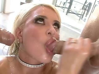 Nice platinum-blonde adores two fat man sausage increased by gets drilled double sageness fashion in lubricated up MFM anal invasion twosome way porntube