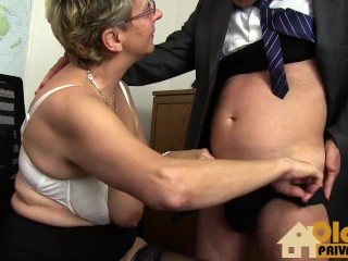 Grannie hefty bosoms assistant porn video