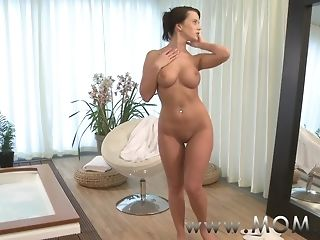 Big-titted brown-haired mummies get boned with a meaty fuckpole porntube