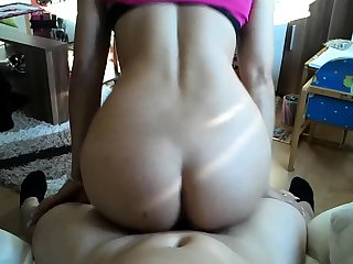 POV double fuck with naughty european