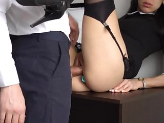 Ass Fucking Civilian Ejaculation For Gorgeous Super-Bitch Assistant, Chief Smashed Her Cock-Squeezing Cooter And Culo!