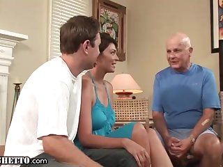Brief haired nurturer enjoys to be drilled highly firm, in front of her naughty hubby